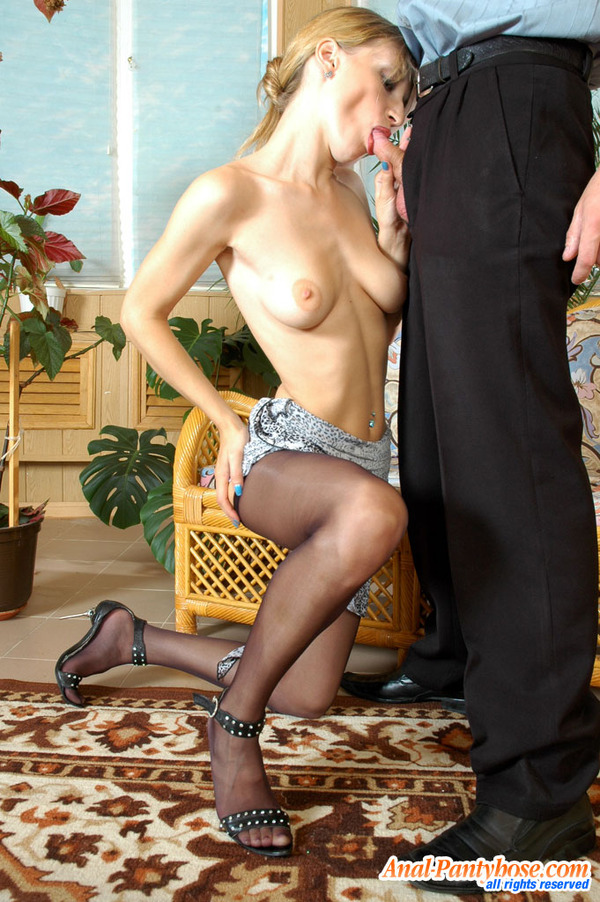 To Waist Pantyhose Getting Under 34