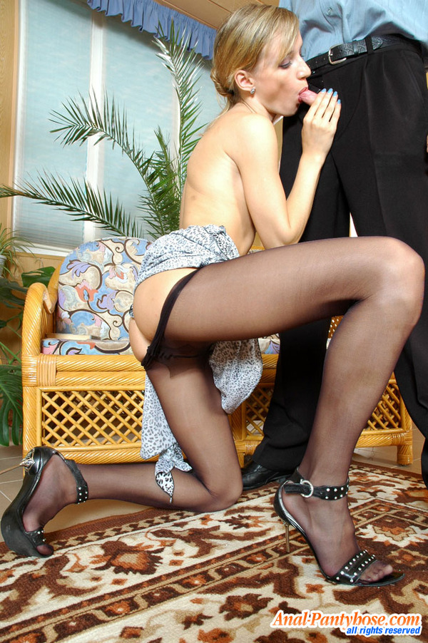 To Waist Pantyhose Getting Under 2