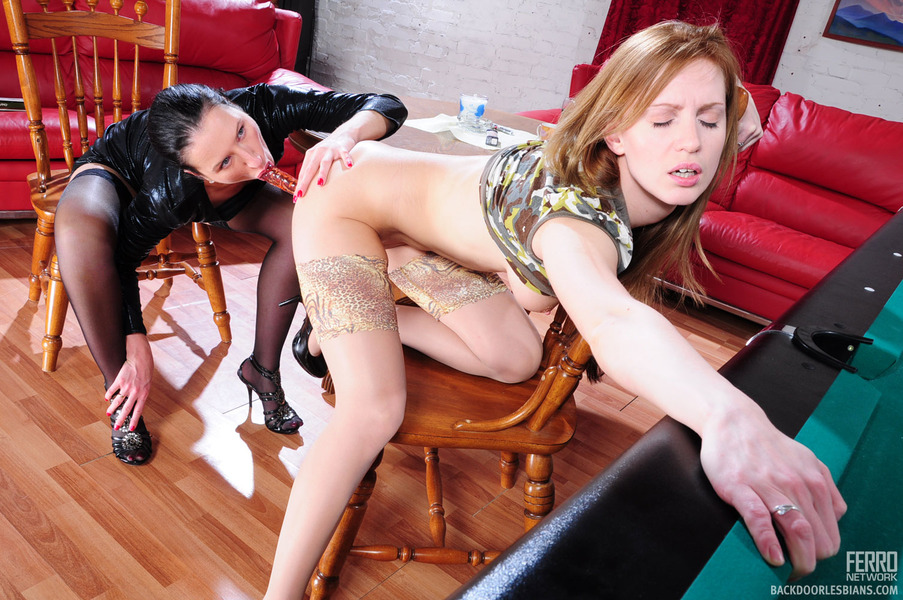 Horny lesbians try a new dildo