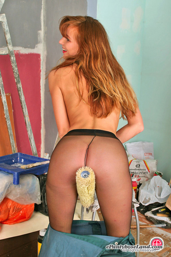 Taking off pantyhose after work