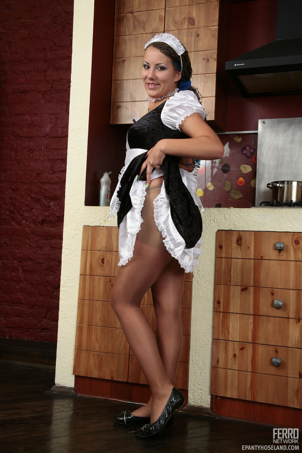 In Pantyhose Indulging Her 15