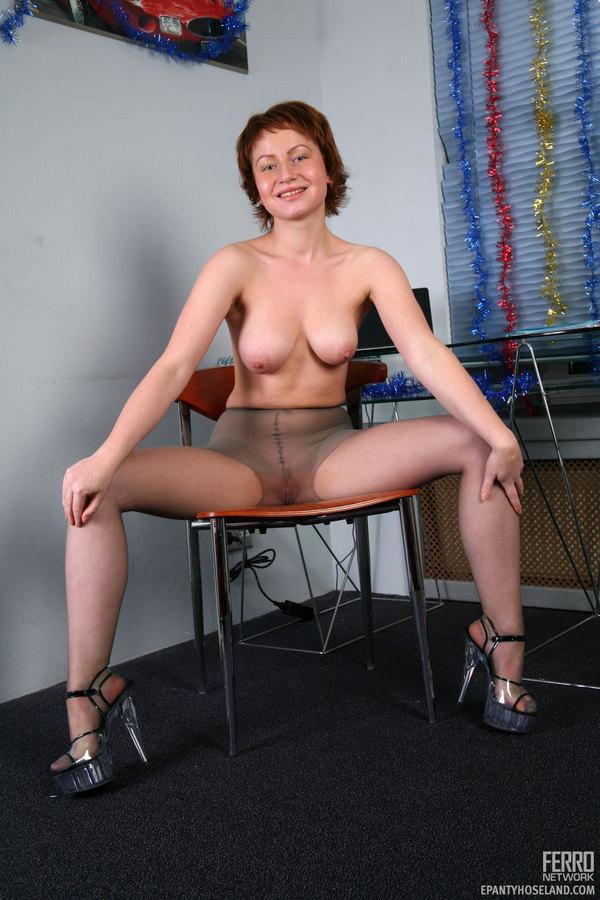 Crazy lady pantyhose