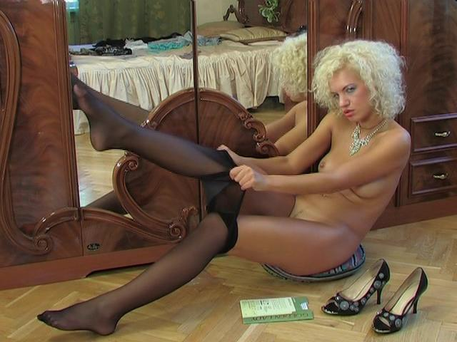 Trudy in pantyhose video
