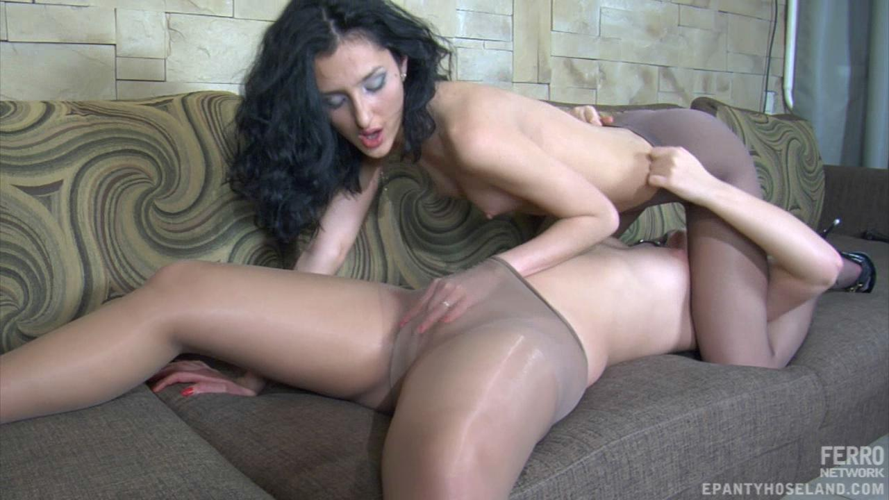 Joyce & Cora pantyhose fuck video