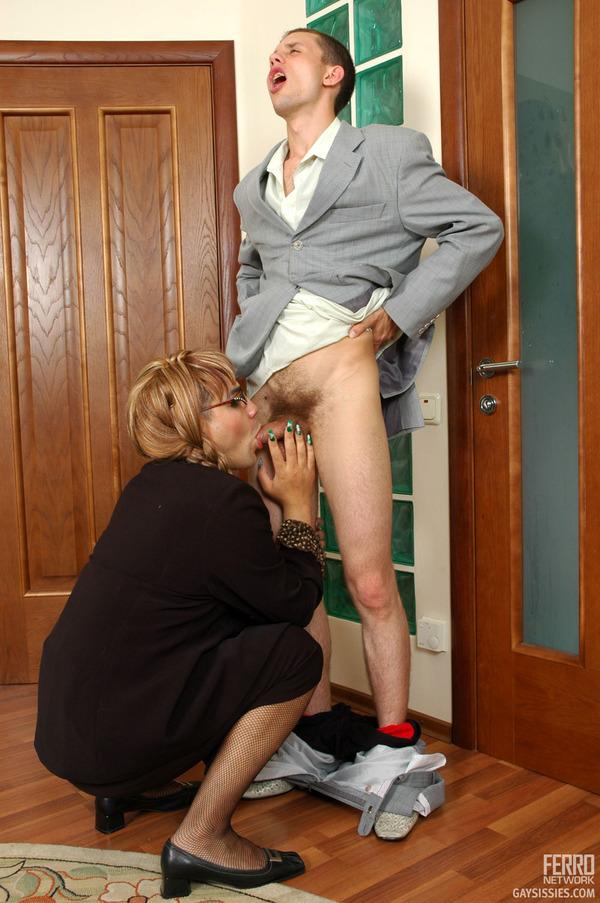 Femdom ball tieing