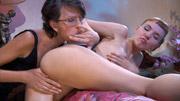 Lily M&Aubrey lesbian mature video
