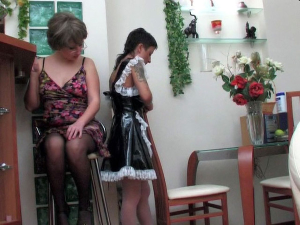 Lesbians on bouble dildo
