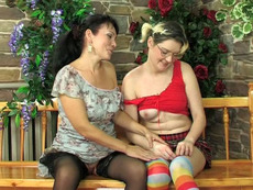 Mix-age lesbian couples