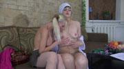 Leonora&Hilda lesbian mom on video