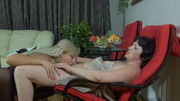 Emilia&Monica pussylicking mature in action