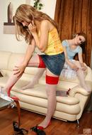 Nylon Lesbian Sex