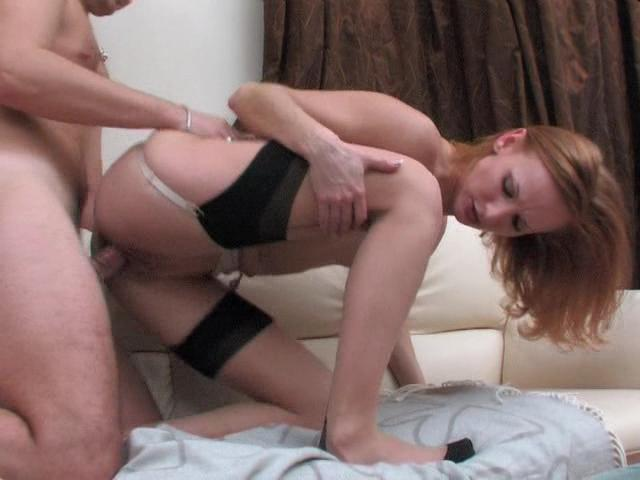 Emmie & Adam furious nylon action