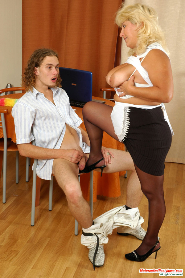 Women wearing pantyhose having sex