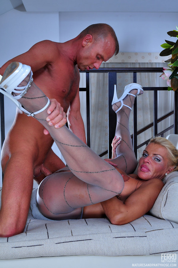 Slutload pantyhose seductions linette and rod with