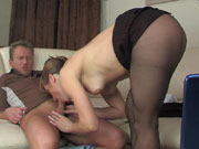 Martha&Adrian mature pantyhose action