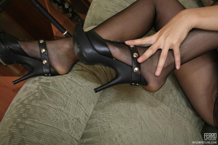 Black Pantyhose Having Time 110