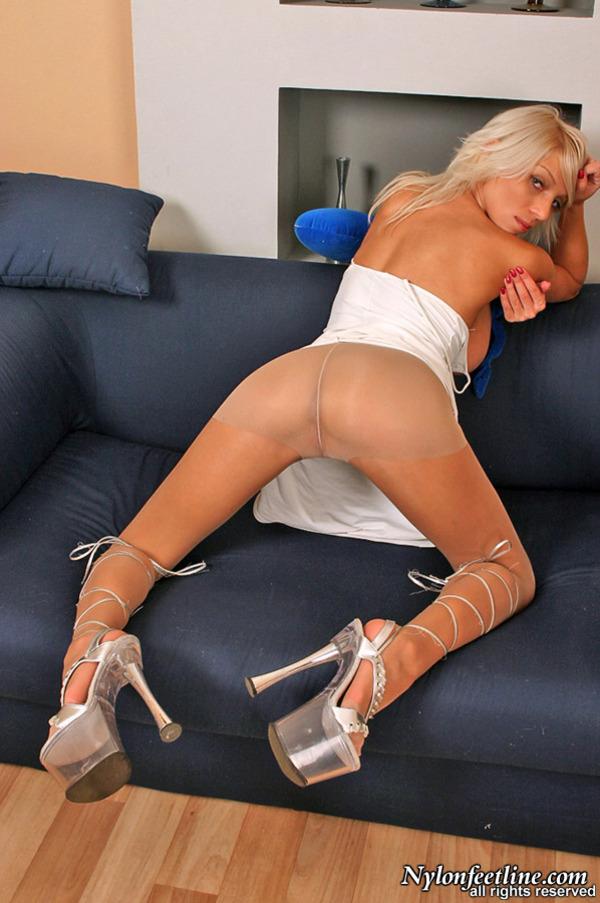 Control Top Pantyhose Teasing With 6