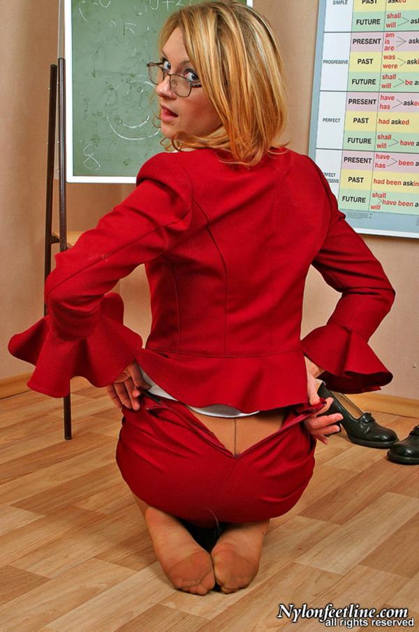 female teacher pantyhose