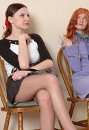 Lesbians in Pantyhose