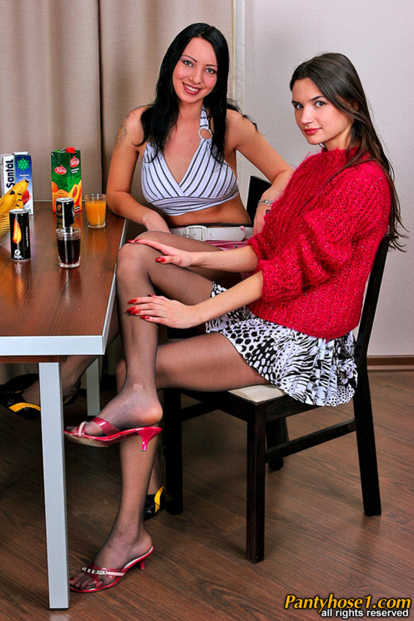 The Naughtiest Lesbian Pantyhose Action 112