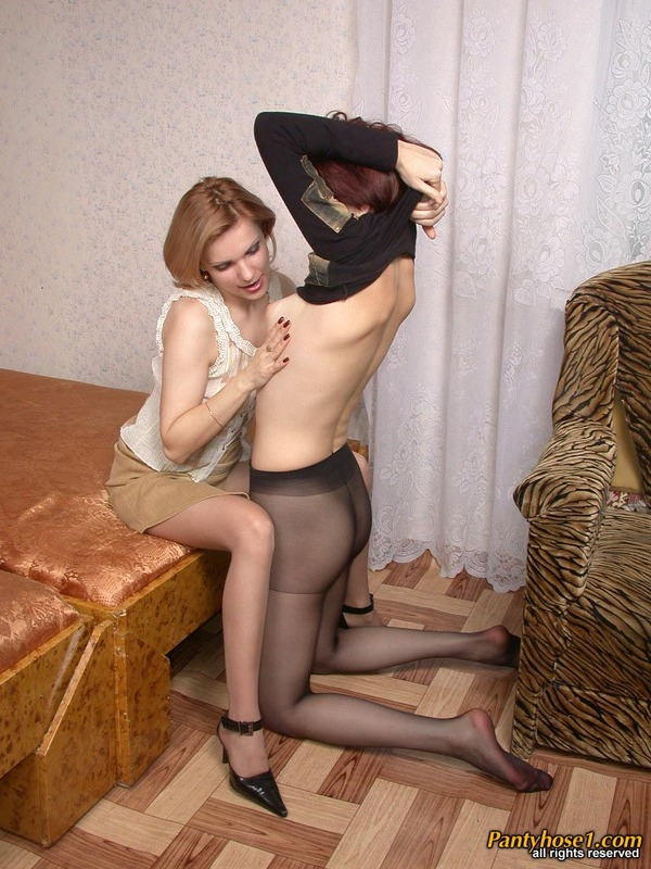 Polina lesbian pantyhose couple can speak