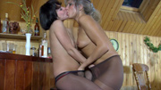 With no men around these nasty pantyhose sex lesbians Nora and Mima slip into some lightning tongue licking fun and their hot moist pussies start shaking the home bar The tingling pantyhose sensation these nasty lesbian babes get while theyre licking that pussy sends waves of tantalizing pleasure through them