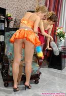 Lesbian Pantyhose Girls