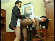 Gwendolen was so horny that her pantyhose lady vagina was almost ready to crawl out from under her nylons just to get her a hot wad of cum that she so craved Her boss Adam knew she liked pussy to mouth and the thought of his cock covered in her pussy sauce and sliding along that soft nylon pantyhose made him whip out that throbbing boss dick of his and bang that pantyhose lady vagina until Gwendolen howled with pleasure through her nylon pantyhose mask