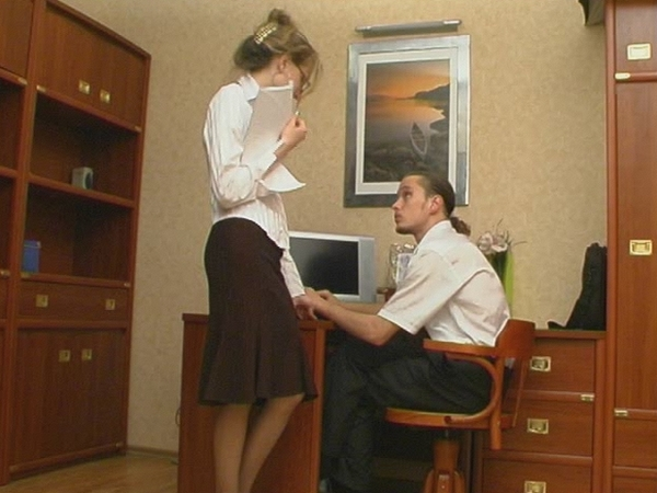 Getting Silky Pantyhose Pushed 22