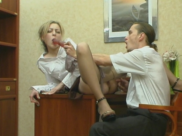 Getting Silky Pantyhose Pushed 8