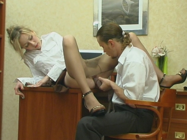 Getting Silky Pantyhose Pushed 60