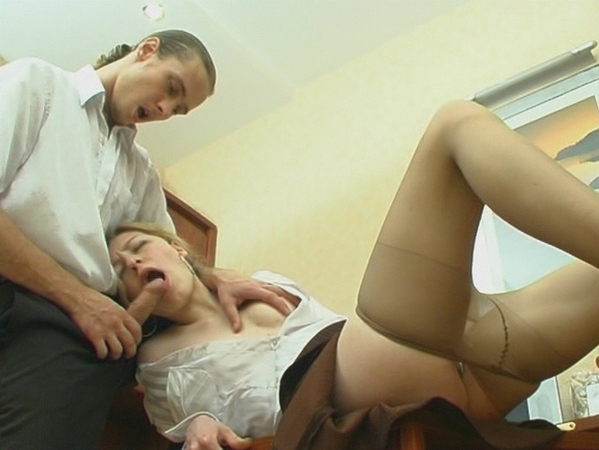 Getting Silky Pantyhose Pushed 9