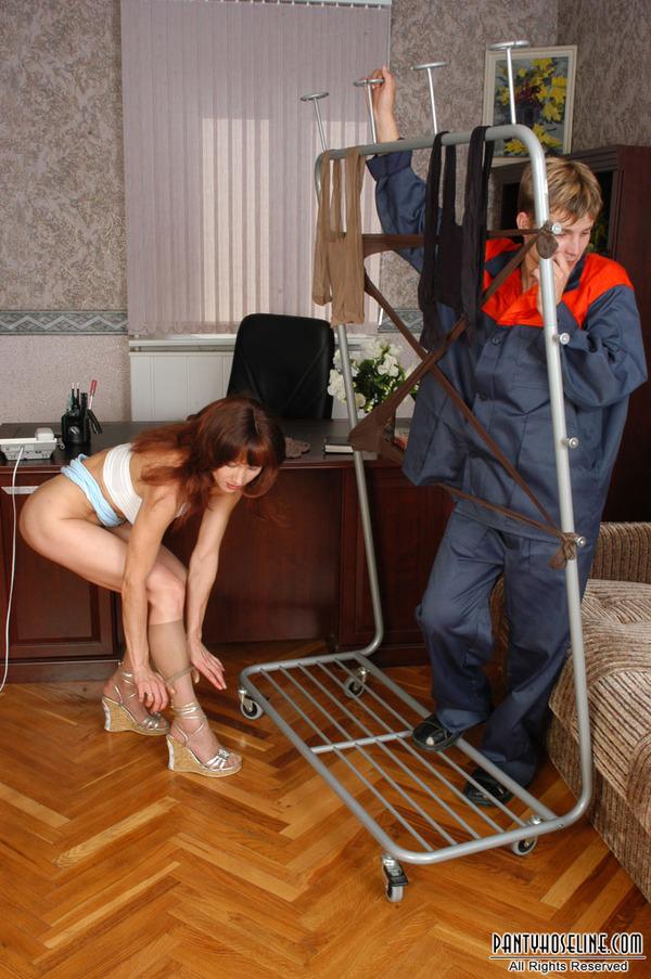 Couple Hardcore Pantyhose Action 113