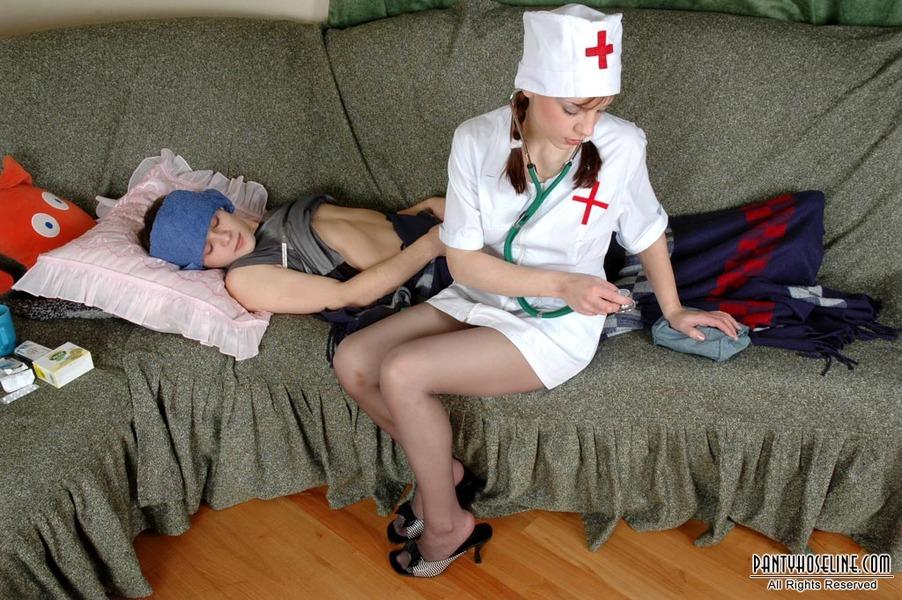 hose nurse hardcore nylon fuck nurse