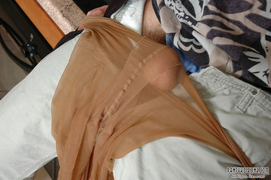 Leonora in pantyhose and
