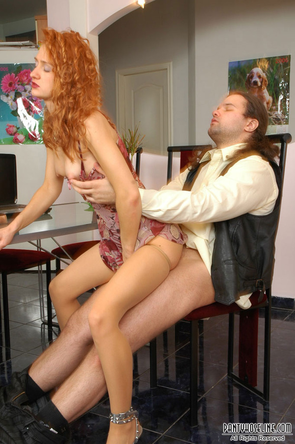 Redhead dildo table