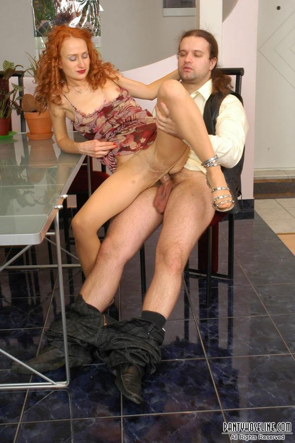 Redhead dildo table needs