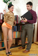 Teacher and pantyhose