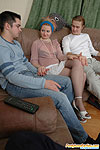 Adam& Gloria&Mike attractive pantyhose threesome