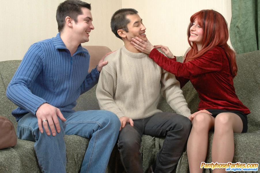 Adam Pantyhose Threesome 41