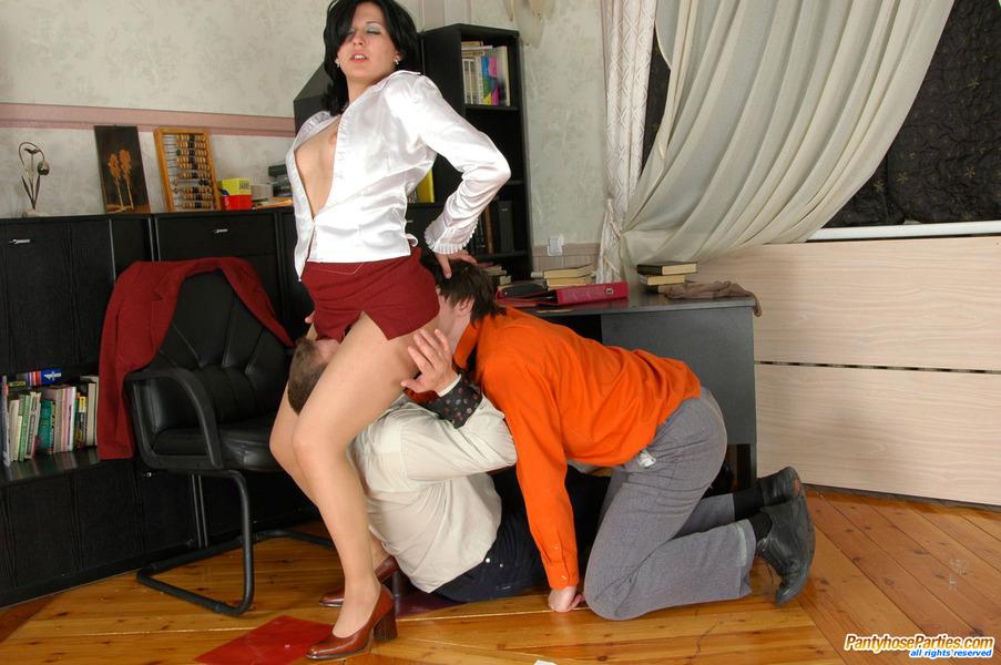 Dick Blowing Pantyhose Sex 29