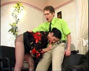 Sweltering chick in control top tights knows the worth of throbbing pole