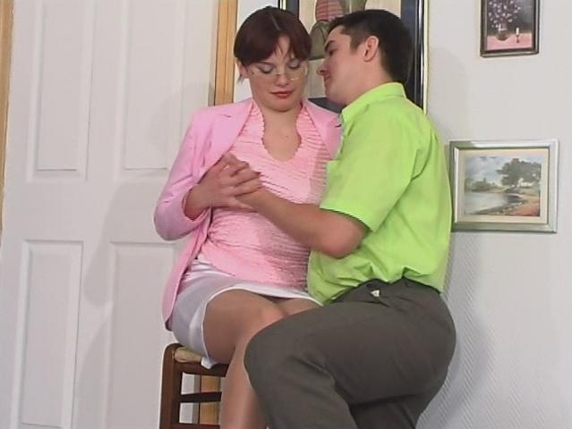Nylons sexuales hasta el muslo
