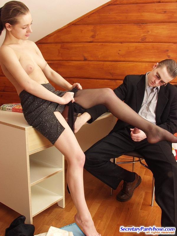 Nasty office pantyhose sex hester