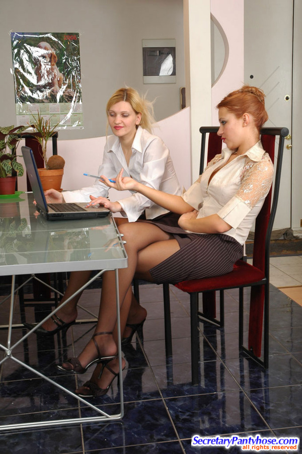 Hot Office Pantyhose Sex Antoinette 63
