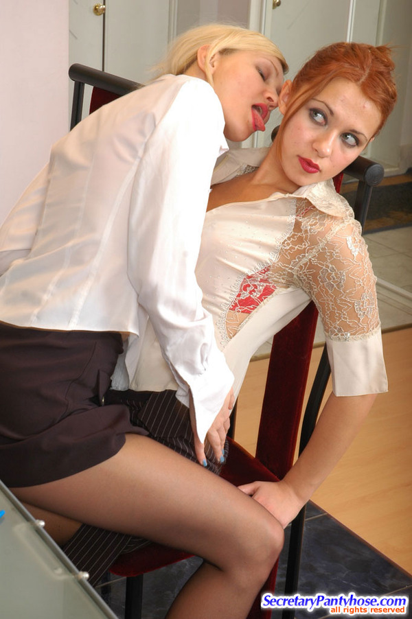 Hot Office Pantyhose Sex Antoinette 42