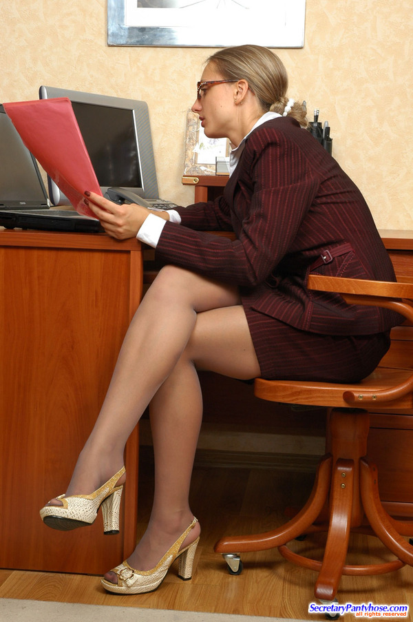 Pantyhosed Business Womans