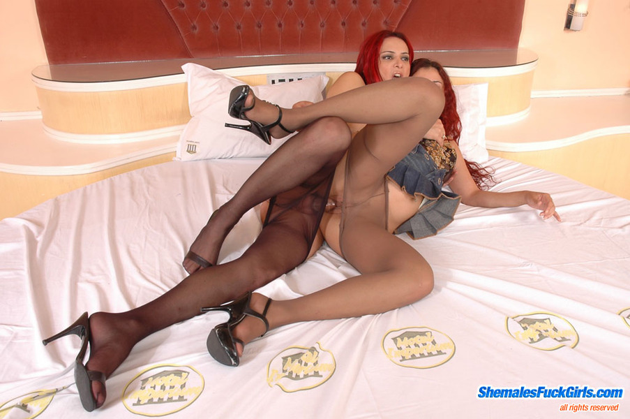 black shemales in fishnets pantyhose