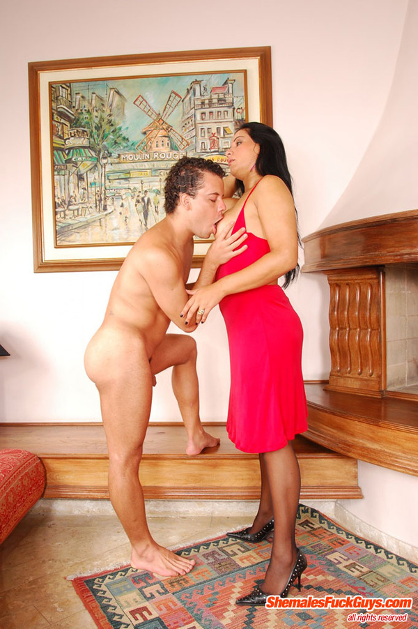 brunette shemales jacking off