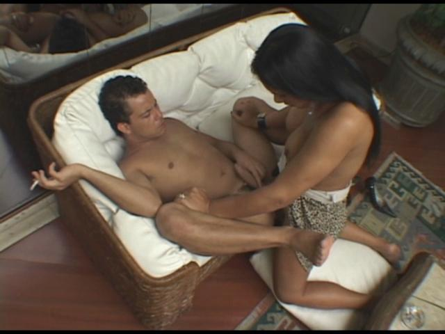 Aline & Sandro shemale fucks boy video